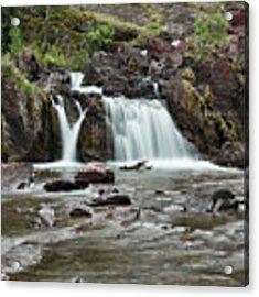 Lower Red Rocks Falls Acrylic Print by Jemmy Archer