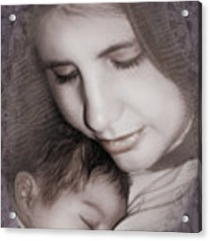 Madonna And Child 3 Acrylic Print by Kate Word