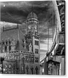 Main Street Station Nw B W Acrylic Print by Jemmy Archer