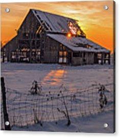 Mapleton Barn Acrylic Print by Wesley Aston