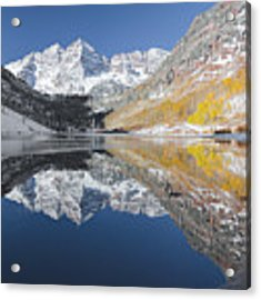 Maroon Bells Mirror Acrylic Print by Jemmy Archer