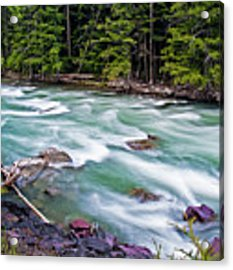 Mcdonald Creek Acrylic Print by Gary Lengyel