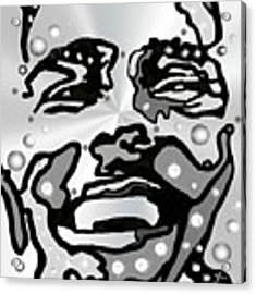 Metal Face 2 Acrylic Print by Darren Cannell