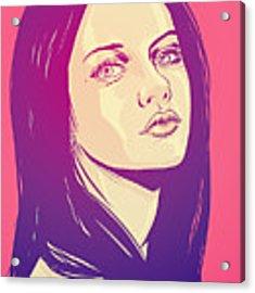 Mila Kunis Acrylic Print by Giuseppe Cristiano