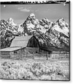 Moulton Barn Black And White  Acrylic Print by Gigi Ebert