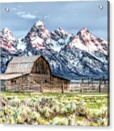 Moulton Barn Mormon Row Grand Tetons Wyoming Acrylic Print by Gigi Ebert