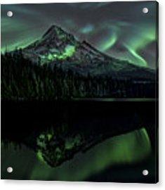 Mount Hood Aurora Borealis I Acrylic Print by Gigi Ebert