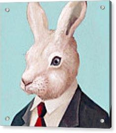 Mr Rabbit Acrylic Print by Animal Crew