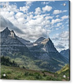 Mt. Oberlin From Logan Pass Acrylic Print by Jemmy Archer