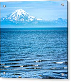 Mt. Redoubt Cooke Inlet Acrylic Print by Claudia Abbott