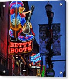 Nashville - Broadway 002 Acrylic Print by Lance Vaughn