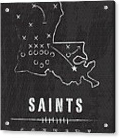 New Orleans Saints Art - Nfl Football Wall Print Acrylic Print by Damon Gray