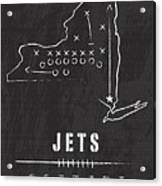 New York Jets Art - Nfl Football Wall Print Acrylic Print by Damon Gray
