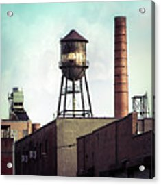 New York Water Towers 19 - Urban Industrial Art Photography Acrylic Print by Gary Heller