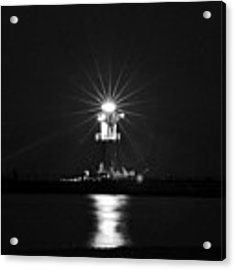 Nocturnal Lighting On The Baltic Sea Acrylic Print by Silva Wischeropp