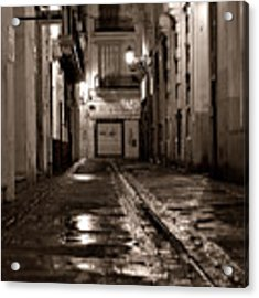 Nocturnal Sound Of Valencia Acrylic Print by Silva Wischeropp