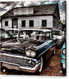 Nothing Buy Skies And Chevy's 2 Acrylic Print by John De Bord