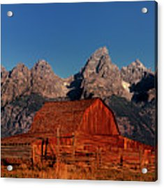 Old Barn Grand Tetons National Park Wyoming Acrylic Print by Dave Welling