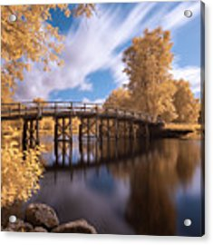 Old North Bridge In Infrared Acrylic Print by Brian Hale