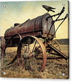 On The Water Wagon - Agricultural Relic Acrylic Print by Gary Heller