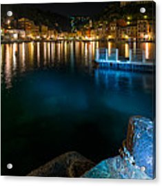 One Night In Portofino - Una Notte A Portofino Acrylic Print by Enrico Pelos