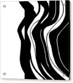 Organic No 5 Black And White Acrylic Print by Menega Sabidussi
