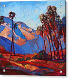 Palm Springs Color Acrylic Print by Erin Hanson