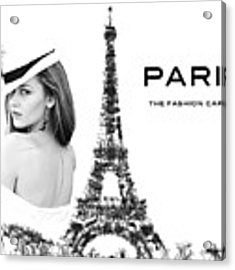 Paris The Fashion Capital Acrylic Print by ISAW Company