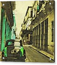 Parked Greens Acrylic Print by Alice Gipson