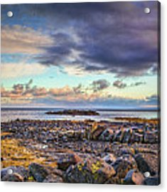 Pebbles And Sky  #h4 Acrylic Print by Leif Sohlman