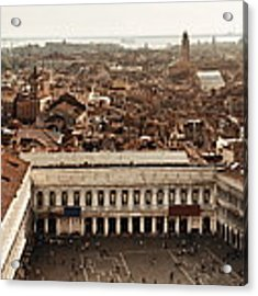 Piazza San Marco Bell Tower Panorama View Acrylic Print by Songquan Deng