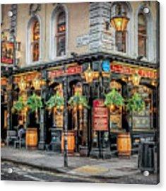 Plough Pub London Acrylic Print by Adrian Evans