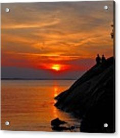 Plum Cove Sunset Acrylic Print by AnnaJanessa PhotoArt