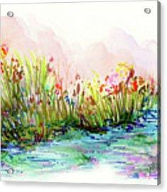 Sunrise Pond Acrylic Print by Lauren Heller