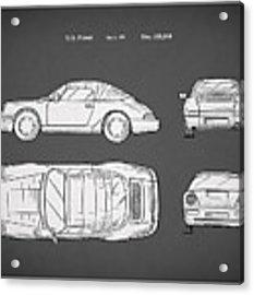 Porsche 911 Cabriolet Patent Acrylic Print
