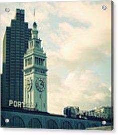 Port Of San Francisco Acrylic Print by Linda Woods