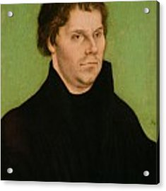 Portrait Of Martin Luther Acrylic Print by Lucas Cranach the Elder