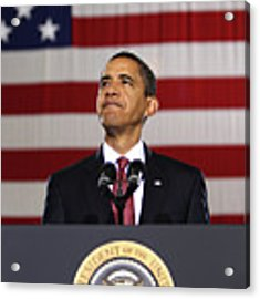 President Obama Acrylic Print by War Is Hell Store
