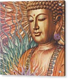 Proliferation Of Peace - Buddha Art By Christopher Beikmann Acrylic Print by Christopher Beikmann