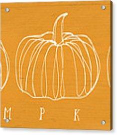 Pumpkins- Art By Linda Woods Acrylic Print