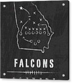 Atlanta Falcons Art - Nfl Football Wall Print Acrylic Print
