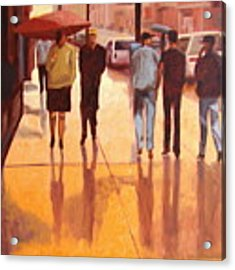 Rain In Manhattan Number Eighteen Acrylic Print