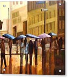 Rain In Manhattan Number Seventeen Acrylic Print