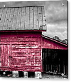 Red Barns At Windsor Castle Acrylic Print by Williams-Cairns Photography LLC