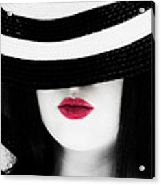 Red Lips Acrylic Print by Jim Thompson