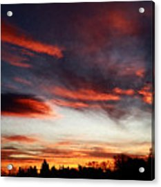 Red Sky Acrylic Print by Julian Perry
