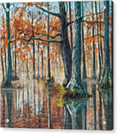 Reflections On Autumn Acrylic Print by Bill Jackson