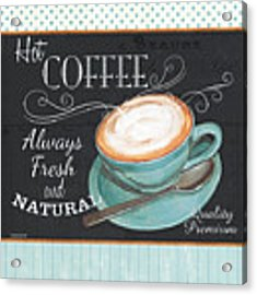 Retro Coffee 1 Acrylic Print by Debbie DeWitt