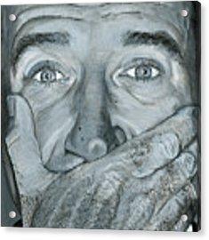 Robin Williams Acrylic Print by Matthew Mezo