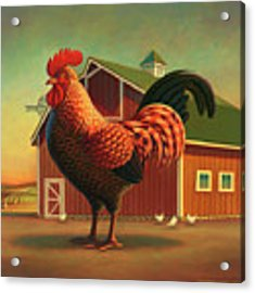 Rooster And The Barn Acrylic Print